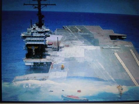 uss america sinking pictures the moments of uss america cv 66 above the