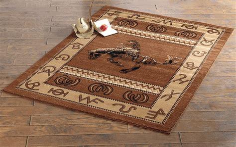 southwest rugs    bucking bronco ruglone star western