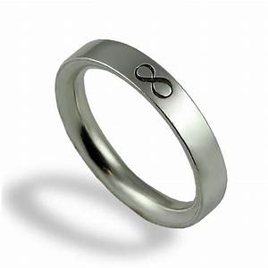 Infinity wedding band unique wedding ring for men for Sterling silver wedding rings for men
