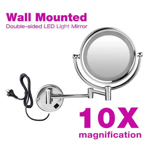 wall mounted extending folding side 10x magnifying