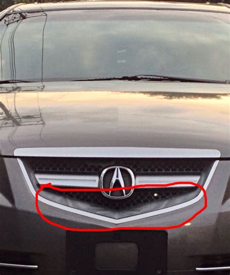 Acura Tl Aftermarket Grill by 08 Acura Tl Front Grill Plastic Fading Gray Acurazine