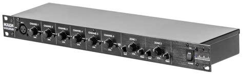 rack mount audio mixer pro audio mx624 6 channel rackmount zone mixer