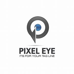 Pixel eye logo Vector | Free Download