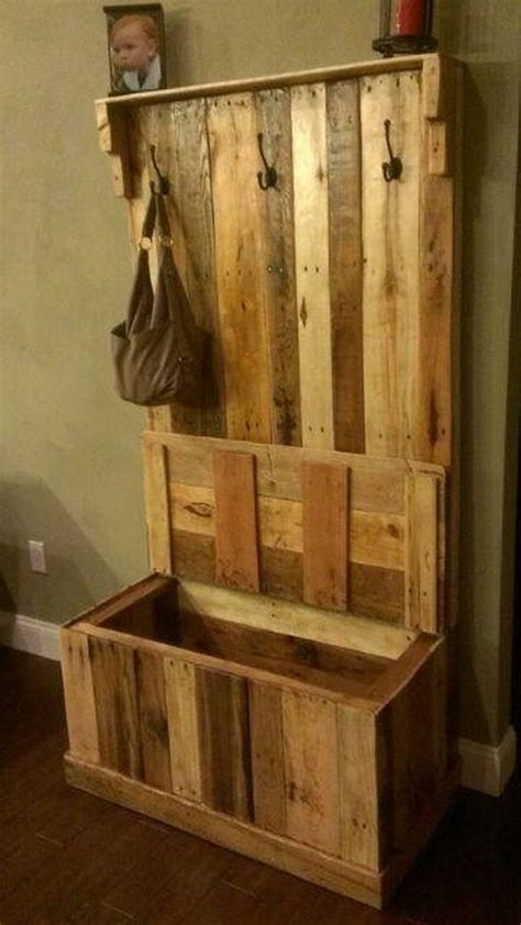 pallet entryway bench diy pallet projects wood pallets