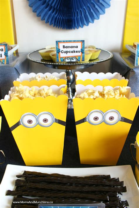 minions birthday party ideas moms munchkins