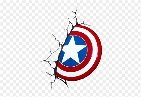 captain america marvel 3d shield wall light clipart 559836 pinclipart