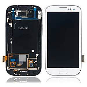 for samsung galaxy s3 sgh i747 t999 white amoled lcd touch screen display frame