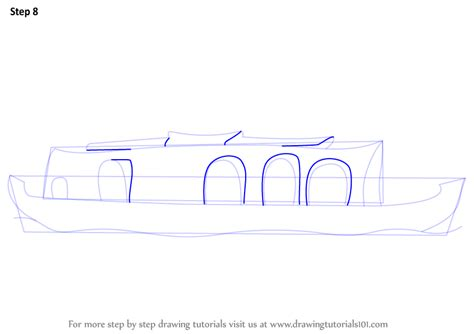 House Boat Drawing by Learn How To Draw A Boat House Boats And Ships Step By