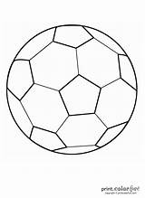 Soccer Coloring Ball Pages Printable Football Printcolorfun sketch template