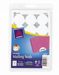 print or write mailing seals white With avery template 5247