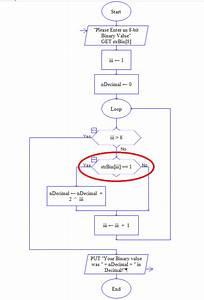 Flowchart -  Beginner  Binary Conversion Program Issue