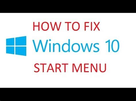 windows 10 reset to fix start menu and cortana search not working
