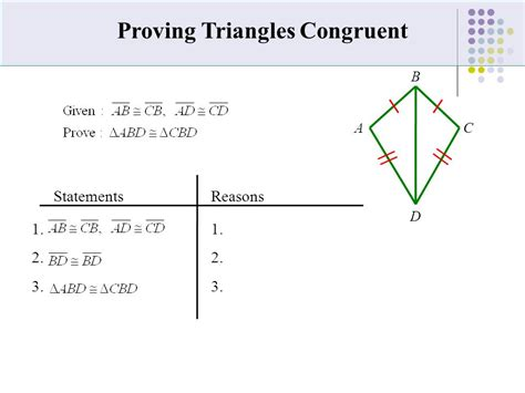 (42)(43) Triangle Congruence By Sss, Sas, Asa, Or Aas Learning Target To Be Able To Prove