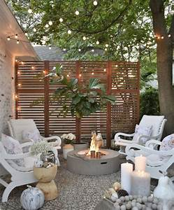 How, We, Hung, Our, Deck, String, Lights, Privacy, Screen, And, Artwork, Outside