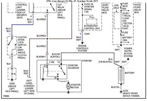 96 Integra Fuse Panel Diagram by What Colors Are The Starter And Power Wires On 96 Acura