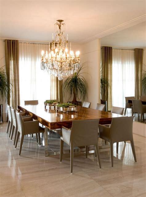 elegante  grande comedor  mesa de madera house