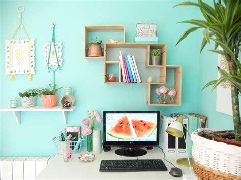 couleur peinture bureau déco bureau turquoise