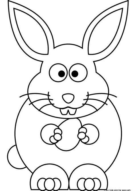 printable easter bunny coloring sheets  kidsfree printable coloring pages  kids