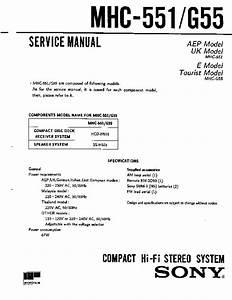Sony Mhc-551  Mhc-g55 Service Manual