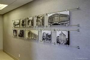 Custom art display shows years of companies history