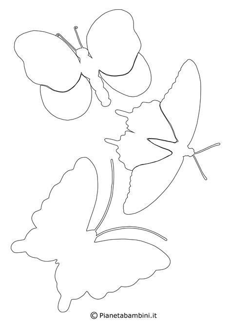 disegni da colorare e ritagliare per bambini gratis sagome di farfalle da colorare e ritagliare per bambini