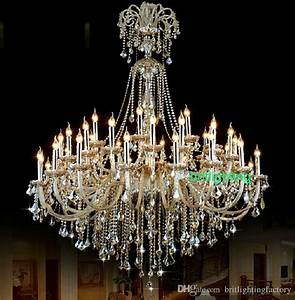 Extra large crystal chandelier lighting entryway high