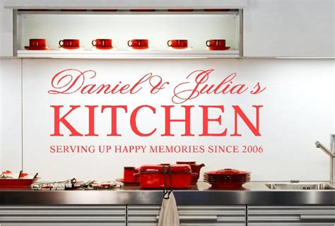 Personalised Kitchen Names Vinyl Wall Art Stickers