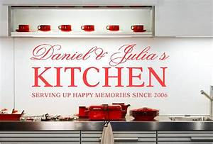 personalised kitchen names vinyl wall art stickers With kitchen colors with white cabinets with motorbike sticker kits
