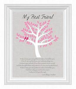 best friend gift personalized gift for a special friend With wedding gifts for best friend