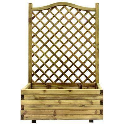 facade meuble cuisine ikea jardinière treillis pin 1er prix 90 x 40 x h 150 cm castorama
