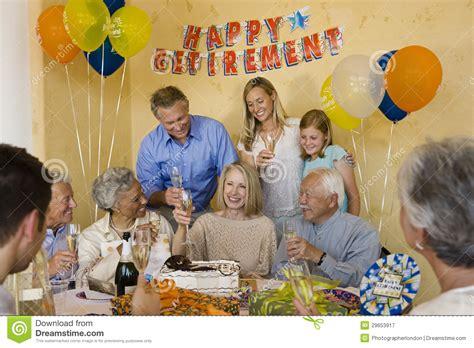 senior couple celebrating retirement party royalty