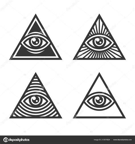 Illuminati Text Symbol by Masonic Illuminati Symbols Eye Triangle Sign Vector