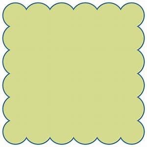 Squares clipart scalloped edge - Pencil and in color ...