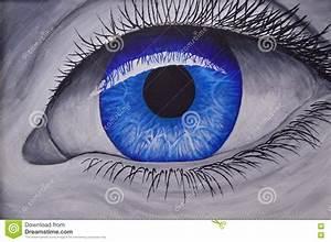 Blue eye close up stock photo. Image of human, lens, blue ...