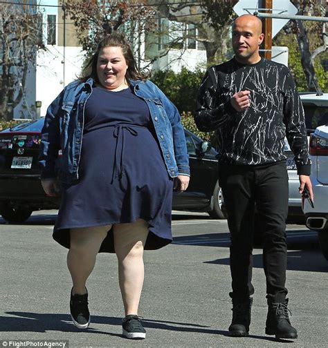 chrissy metz steps   navy dress  la daily mail
