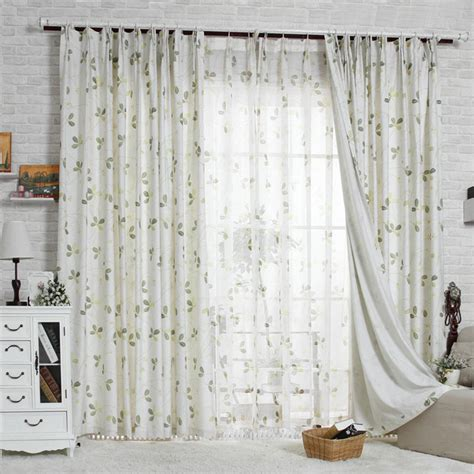 Beautiful Floral Country Style Living Room Curtains