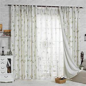 Beautiful floral country style living room curtains for Country living room curtains