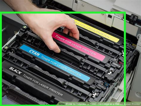 color toner printer how to replace a toner cartridge in a canon laser printer