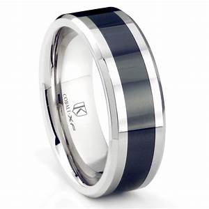 Cobalt XF Chrome 8MM Two Tone Beveled Polished Wedding
