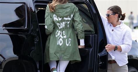 melania trumps jacket   turned   savagely