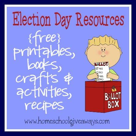 election day resources free printables activities books
