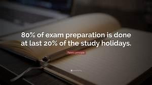 Pareto Principl... Preparing Exam Quotes