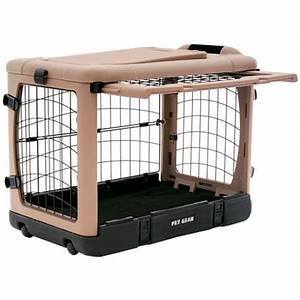 small pet cages here39s a small durable hard plasti With plastic folding dog crate
