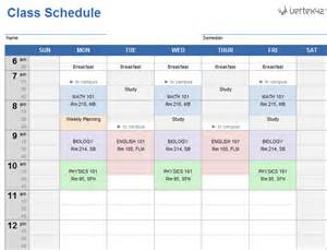 Schedule Template For Excel Weekly Class Schedule Template For Excel