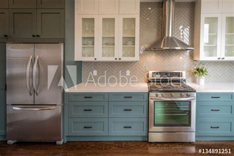 colors of kitchen modern kitchen with teal base cabinets buy this stock 2362