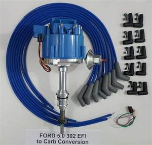 Ford 5 0l 302 Efi To Carb Hei Distributor  U0026 Blue Universal