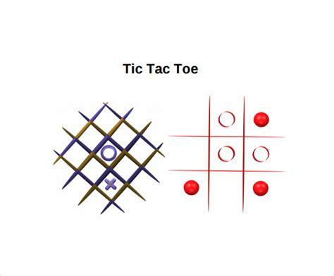 tic tac toe template   samples examples formats