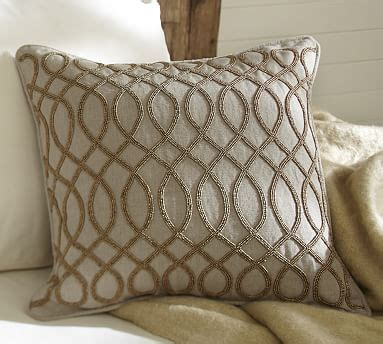 Embellished Beaded Pillow Covers Pottery Barn by Beaded Pillow Cover Pottery Barn