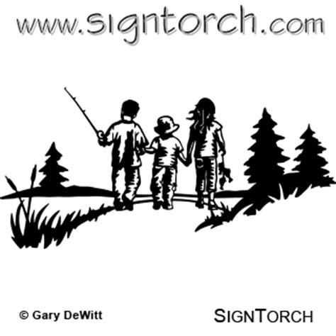 kids fishing scene signtorch turning images