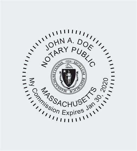 massachusetts notary seals nna